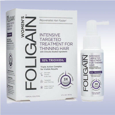FOLIGAIN WOMEN'S 10% TRIOXIDIL (2 FL OZ) thinning hair formula rogaine women
