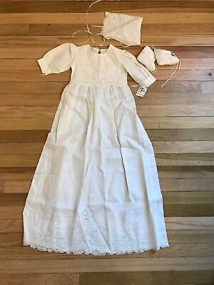 Vintage Baby's Long Christening Gown Outfit - Fine Linen - Rendezvous *NWOT* #54