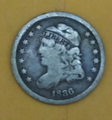 1836 capped bust half dime vf
