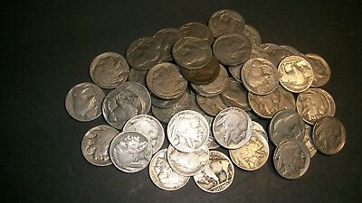Partial/Weak Date <> Buffalo Nickel <>Fully Readable <> Mixed 1/2 Roll 20