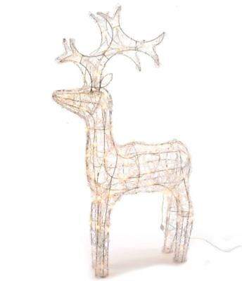 Kaemingk Outdoor Christmas LED Acrylic Reindeer Decoration - 90cm Warm White