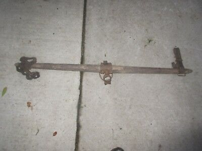 "48"" Antique Horse Mule Yoke Harness Rigging Metal Wood Farm Barn Homestead"
