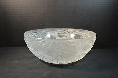 Vintage Lalique French Crystal Pinsons Bowl with Birds