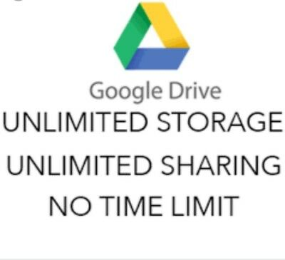 Unlimited Google Drive for your existing account LIFETIME!