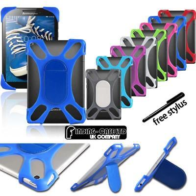 """For Various 7"""" 8"""" 10"""" Lenovo Tab Tablet - Shockproof Silicone Stand Cover Case"""