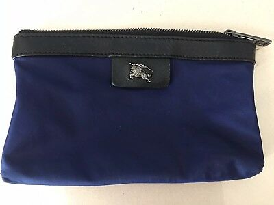 BURBERRY Small Cosmetic Makeup Accessory Purse Pouch - Navy