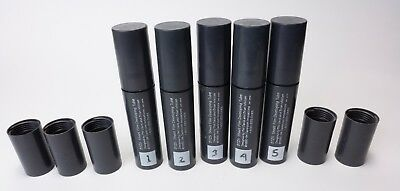 Set of Five - 4x5 BTZS B&W Film Processing Tubes and Three Extra Caps - Used