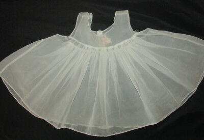 Vintage 1950's Girls Sheer Pinafore Dress Castro & Co. Sz 18 M