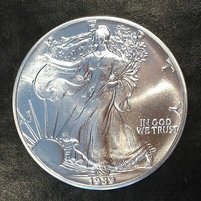 1989 Uncirculated American Silver Eagle US Mint Issue 1oz Pure Silver #G055