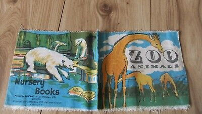 VINTAGE Rag Cloth Book A Bankcroft Baby's Book *ZOO ANIMALS*