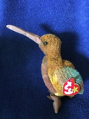 Ty Beanie Babies 1998 Beak Bird Tag Worn Left Edge PE