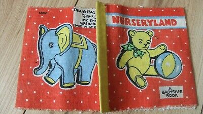 "Vintage ""nurseryland"" Deans Rag Cloth Book Vintage Baby Safe Fabric Books"
