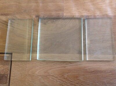 Antique Clock Glass Thick Square 90X90X8Mm And Rectangle 52X90X4Mm