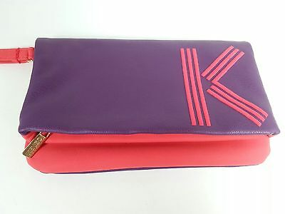 ec9c0bb91 Kenzo Parfums Makeup Cosmetic Bag Purple Red Pouch Toiletry Tote Clutch