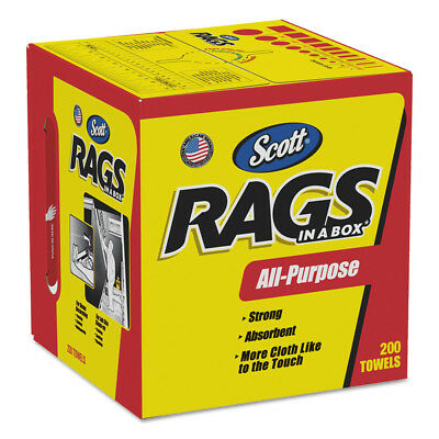 Kimberly-Clark Rags In A Box, Pop-Up Box, 10 X 12, White, 200/box, 8 Boxes Per C