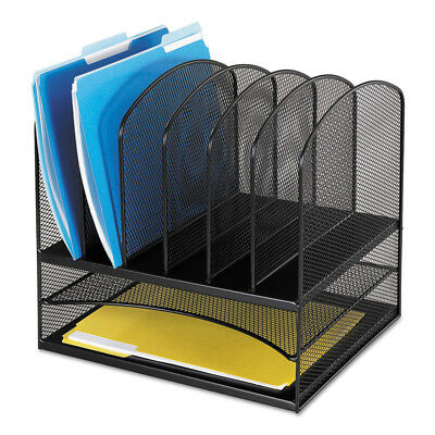 Safco Mesh Desk Organizer Eight Sections Steel 13 1/2x11 3/8x13 Black 3255BL NEW