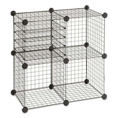 Safco Wire Cube Shelving System, 15w X 15d X 15h, Black 5279BL NEW