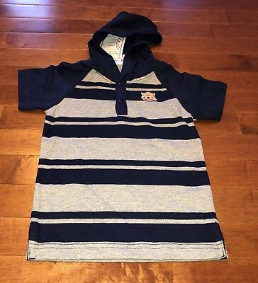NCAA Licensed Auburn University Tigers Youth Toddler Boy Hooded Shirt Top New 3T