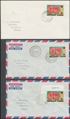 GILBERT ISLANDS 1976-77 POST OFFICE CANCELS SELECTION OF (x6) DIFFERENT COVERS
