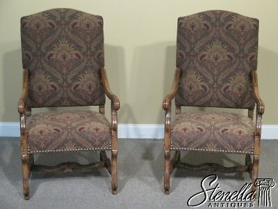 L41437E: Pair GUY CHADDOCK Baroque Style Throne Arm Chairs