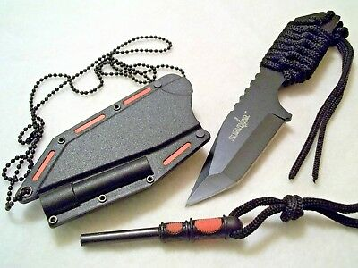 Belt Boot Neck Knife Survivor Concealable With Fire Starter
