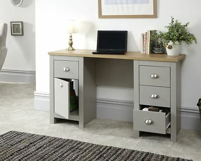 Lancaster Study Desk Computer Table With 3 Drawers And Cupboards