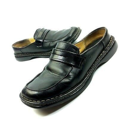 f2b8e5aa146 Born Womens Shoe Size 7.5 Slip On Penny Loafer Flats Black Leather Casual  B3280