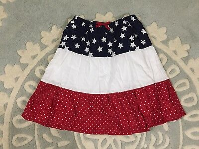 NEW Gymboree Red White Blue Tiered Star Patriotic Skirt 7