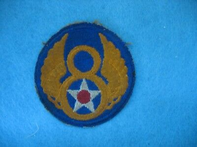 Original salty used WWII US Army Forces 8th Air Force patch England B-17's.