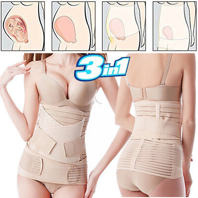 After Pregnancy Postpartum Postnatal Recovery Belly Support Belt Wrap Band 3 In1