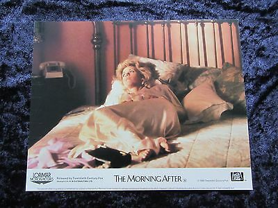 THE MORNING AFTER lobby card JANE FONDA  - mini uk card # 2