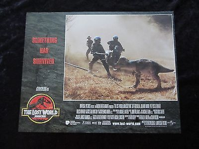 JURASSIC PARK lobby card # 3 - LOST WORLD, JEFF GOLDBLUM, JULIANNE MOORE,