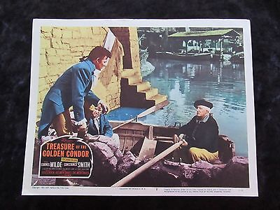 THE TREASURE OF THE GOLDON CONDOR lobby card # 2 - CORNEL WILDE, CONSTANCE SMITH