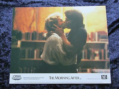 THE MORNING AFTER lobby card JANE FONDA, JEFF BRIDGES  - mini uk card # 4