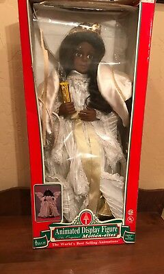Vintage Telco Motionette African American Angel Moves Lighted
