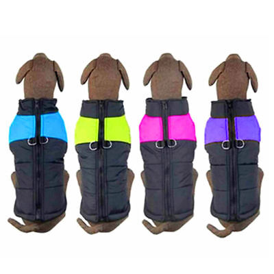 Comfy Soft Dog Jacket Padded Waterproof Pet Clothes Warm Vest Coat Winter S-5XL