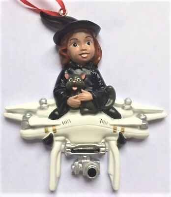 Witch Flying On Drone Halloween Christmas Ornament Decoration Fun Cute Gag Gift