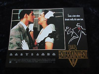 THATS ENTERTAINMENT PART III lobby card #2 MGM MUSICALS