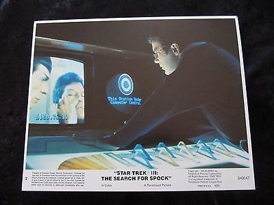 Star Trek III The Search For Spock original lobby card # 2 - 8 x 10 inches