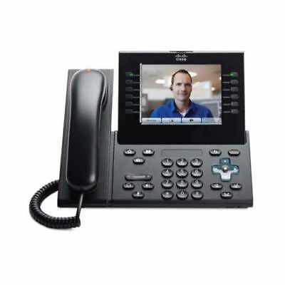 CISCO Unified IP Phone 9971 + Stand + PoE Power Injector Video Calling SIP VoIP