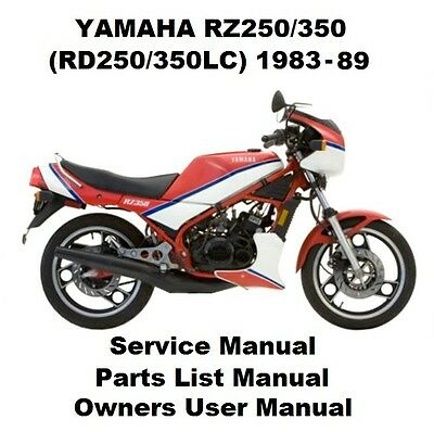 YAMAHA RZ250 RZ350 Owners Workshop Service Repair Parts Manual PDF on CD-R RD350