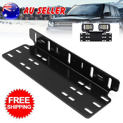 Number Plate Holder Mount Bracket Car LED Driving Light Bar AU Stock