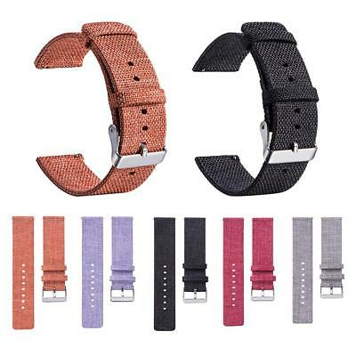 18MM Universal Nylon Canvas Replacement Watch Band Wrist Straps Stainless Buckle