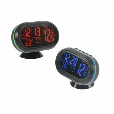 Black Screen Car Digital LCD Monitor Thermometer Voltage Alarm Clock 12V-24V LQ