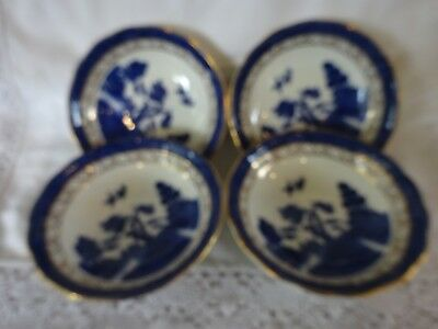 "Royal Doulton Booths Real Old Willow Set of Four Fruit Bowls (5.25"")"