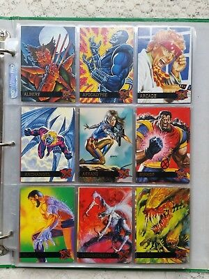 1995 Fleer Ultra X-Men complete base card set #1 - #150