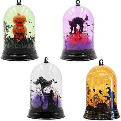 Halloween Witch Pumpkin Color-Changing Lamp Scene Decoration Night Light Battery