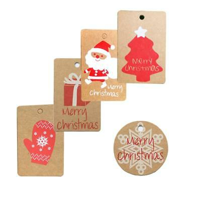 Paperboard Christmas Gifts Tag Printed Design For Decoration Supplies Card Label