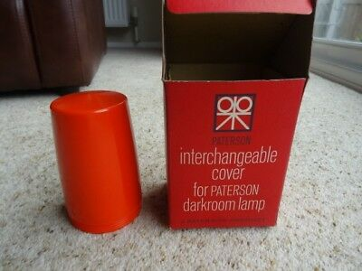 Orange  cover for Paterson Photographic Darkroom Safety Lamp / Light