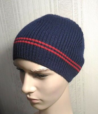51f647cceff Arctic russian hat beanie wool military surplus winter knitted cap blue  Reebok